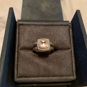 David Yurman morganite Petite Albion ring size 4.5